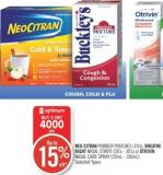 Neo Citran Powder Pouches (10's) - Breathe Right Nasal Strips (26's - 30's) or Otrivin Nasal Care Spray (20ml - 100ml)