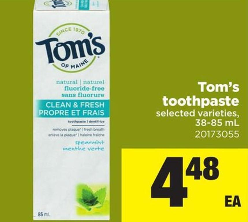 Tom's Toothpaste - 38-85 mL