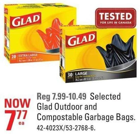 Glad Outdoor and Compostable Garbage Bags