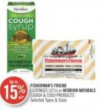 Fisherman's Friend Lozenges or Herbion Naturals Cough & Cold Products (22's)