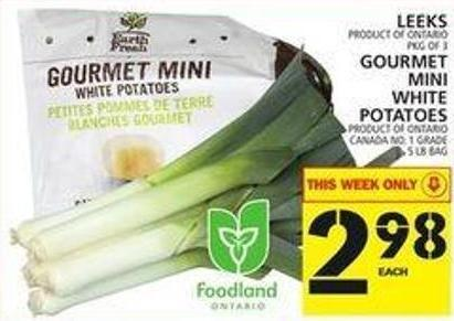 Leeks Or Gourmet Mini White Potatoes