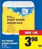 No Name Paper Towel - 6 Rolls