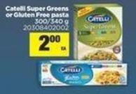 Catelli Super Greens Or Gluten Free Pasta - 300/340 g