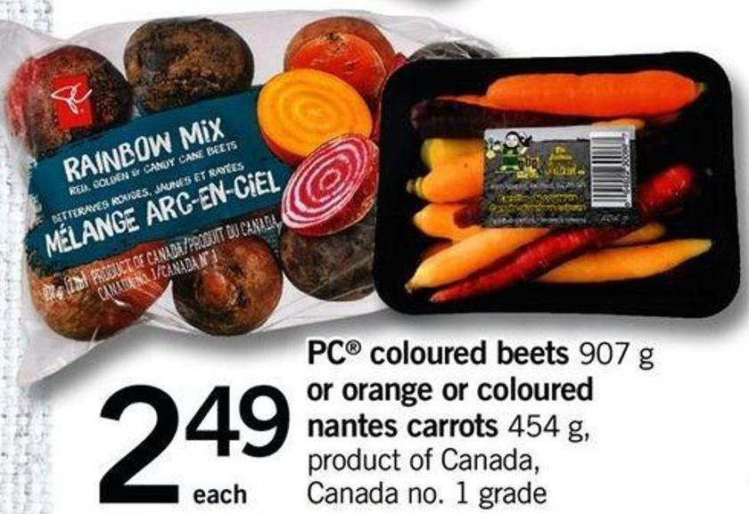 PC Coloured Beets - 907 G Or Orange Or Coloured Nantes Carrots - 454 G