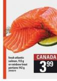 Fresh Atlantic Salmon - 113 G Or Rainbow Trout Portions - 142 G