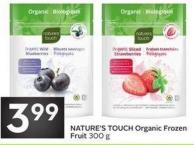 Nature's Touch Organic Frozen Fruit 300 g