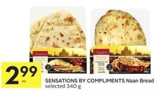 Sensations By Compliments Naan Bread Selected 340 g