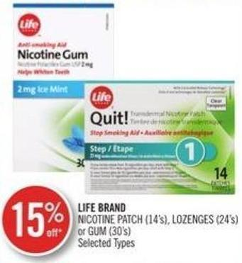 Life Brand Nicotine Patch (14's) - Lozenges (24's) or GUM (30's)