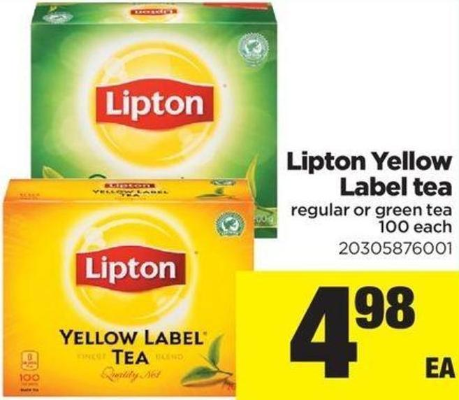 Lipton Yellow Label Tea - 100 Each