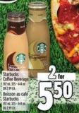 Starbucks Coffee Beverage 192 ml - 325 - 444 ml Or 2.99 Ea.