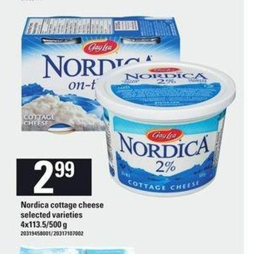 Nordica Cottage Cheese - 4x113.5/500 g