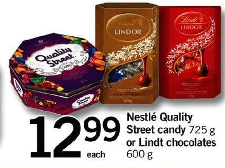 Nestlé Quality Street Candy - 725 G Or Lindt Chocolates - 600 G