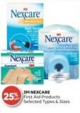 3m Nexcare First Aid Products