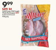 Casii Frozen Wild Caught Whole Red Snapper New