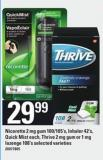 Nicorette 2 Mg GUM 100/105's - Inhaler 42's - Quick Mist Each - Thrive 2 Mg GUM Or 1 Mg Lozenge 108's