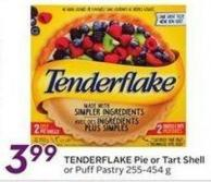 Tenderflake Pie or Tart Shell