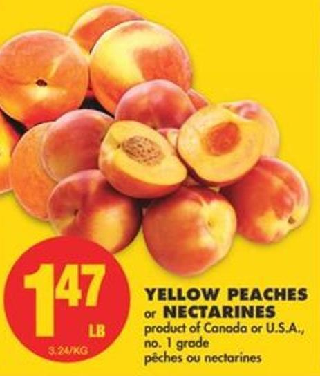 Yellow Peaches or Nectarines