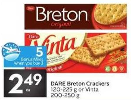 Dare Breton Crackers - 5 Air Miles Bonus Miles