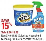 Selected Household Cleaning Products