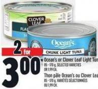 Ocean's Or Clover Leaf Light Tuna 85 - 170 g