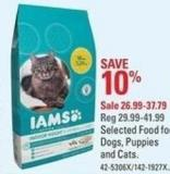Iams Selected Food For Dogs - Puppies and Cats