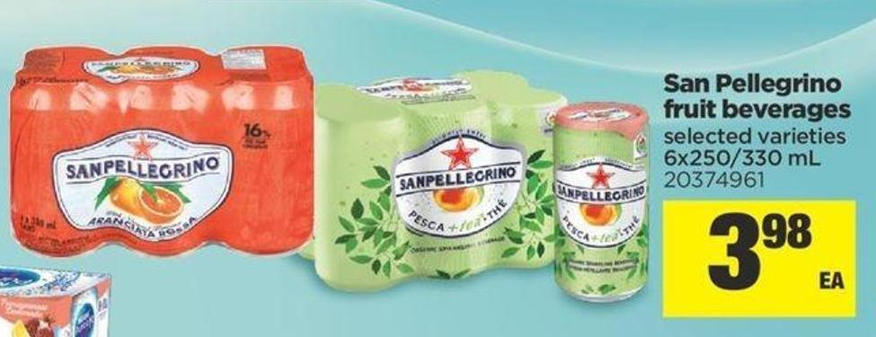 San Pellegrino Fruit Beverages - 6x250/330 mL