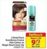 L'oreal Paris Excellence Creme Hair Colour or Magic Root Cover Up