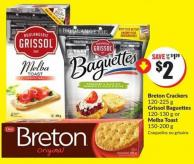 Lowering Fo Breton Crackers 120-225 g Grissol Baguettes 120-130 g or Melba Toast 150-200 g
