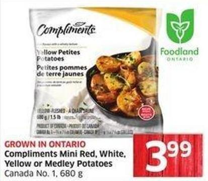 Compliments Mini Red - White - Yellow or Medley Potatoes Canada No. 1 - 680 g
