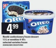 Christie Nestlé Confectionery Frozen Dessert 1.5 L Or Novelties 4-10's