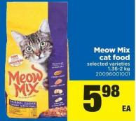 Meow Mix Cat Food - 1.36-2 Kg