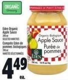 Eden Organic Apple Sauce 398 ml