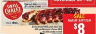 Swiss Chalet Bbq - Pork Back Ribs - 600 G Or Montana's Texan Bbq Ribs - 650 G