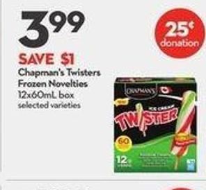 Chapman's Twisters Frozen Novelties