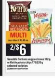 Sensible Portions Veggie Straws - 142 g or Kettle Potato Chips - 170/220 g