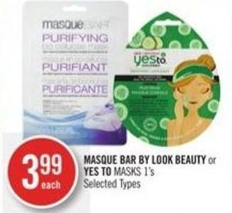 Masque Bar By Look Beauty or Yes To Masks 1's