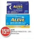 Aleve Pain Relief Products 40's - 100's