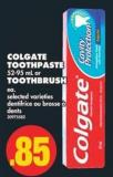 Colgate Toothpaste 52-95 mL or Toothbrush