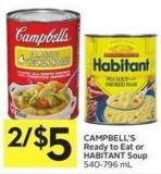 Campbell's Ready To Eat or Habitant Soup