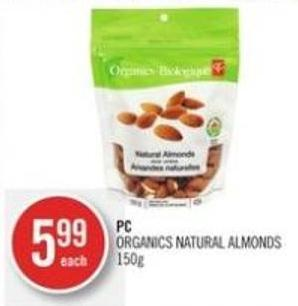 PC Organics Natural Almonds 150 g