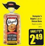 Dempster's Bagels 6 Pk or Deluxe Buns