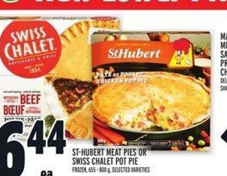 St-hubert Meat Pies Or Swiss Chalet Pot Pie