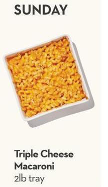 Triple Cheese Macaroni 2lb Tray