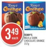 Terry's Milk or Dark Chocolate Orange 157 g