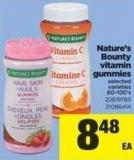 Nature's Bounty Vitamin Gummies - 60-100's