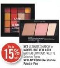Nyx Ultimate Shadow or Maybelline New York Master Contour Palette