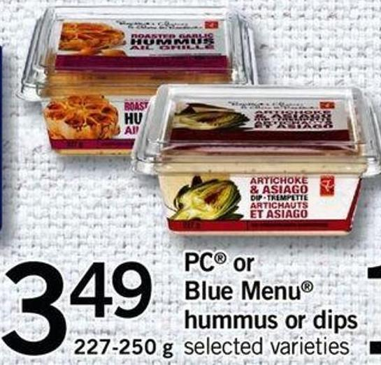 PC Or Blue Menu Hummus Or Dips - 227-250 G