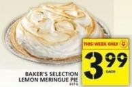 Baker's Selection Lemon Meringue Pie