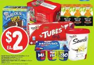 Nestlé Parlour Promo Pack Novelties 4-8 Pk V8 Vegetable Cocktail 6 X 156 mL Minute Maid Tetra 8 X 200 mL Yoplait Source Yogurt Tubs 650 g Minigo 6 X 60 g or Tubes 8 X 60 g