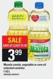 Mazola Canola - Vegetable Or Corn Oil - 1.42 L